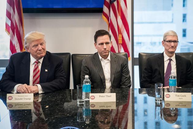 Трамп, Тіль, Кук.