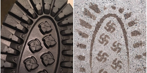 ВСША отозвали изпродажи ботинки сосвастикой наподошве