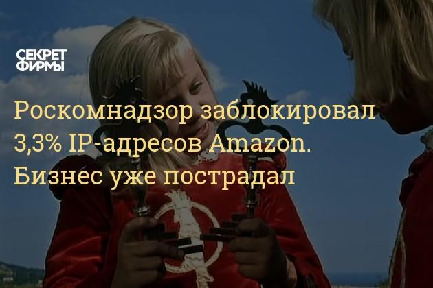 Роскомнадзор заблокировал 3,3% IP-адресов Amazon. Бизнес уже пострадал