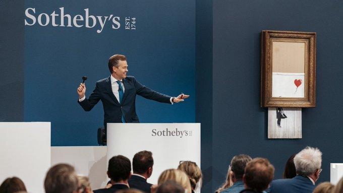 Изрезанную шредером картину Бэнкси продали за рекордные $25 млн